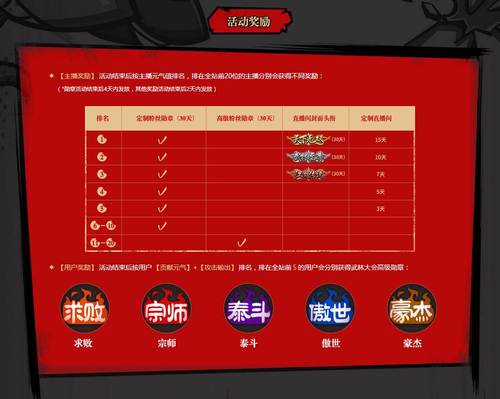 斗鱼粉丝狂欢节-武林大会