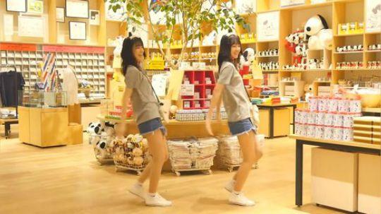 超可爱萌妹日本双胞胎跳舞!
