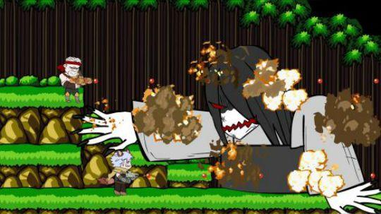 百里守约和黄忠并肩作战,在魂斗罗里大杀四方,一路顺风的最后却遭到了神秘BOSS的袭击,详情请收看本期的农药小电影——王者荣耀搞笑同人动画:《魂斗罗大战贞子》