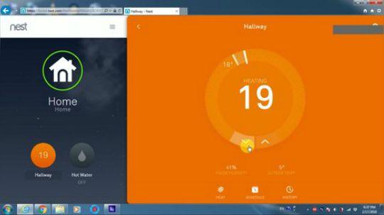 无线控制家里暖气设备Nest网上设置 暖气+热水控制设置