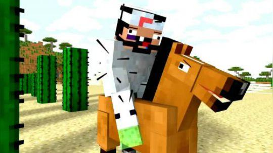 我的世界搞笑动画片,难以驯服的马儿