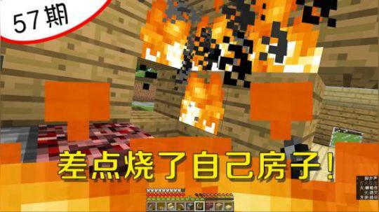 我的世界阿阳57:生存中最尴尬的事情,我差点烧了自己的房子!