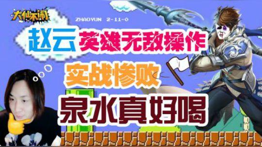 大仙不闹,赵云英雄无敌操作,实战惨败,泉水真好喝!