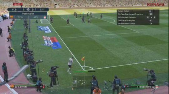 实况足球PES2019E3试玩视频巴萨对利物浦