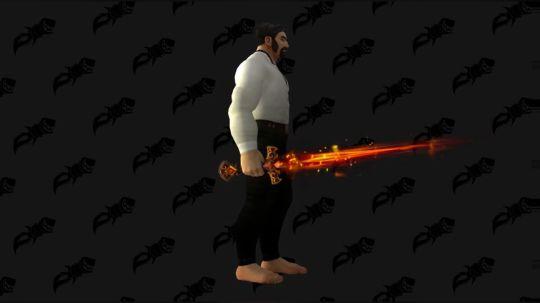 魔兽世界8.0 [提布的炽炎长剑] 高清模型